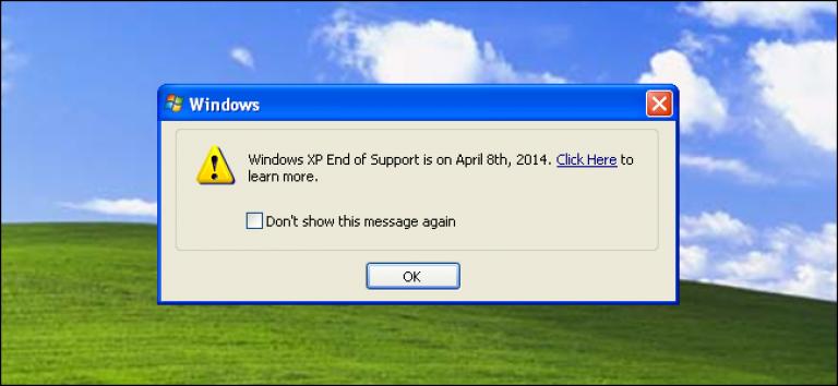 Fin de vie de Windows XP