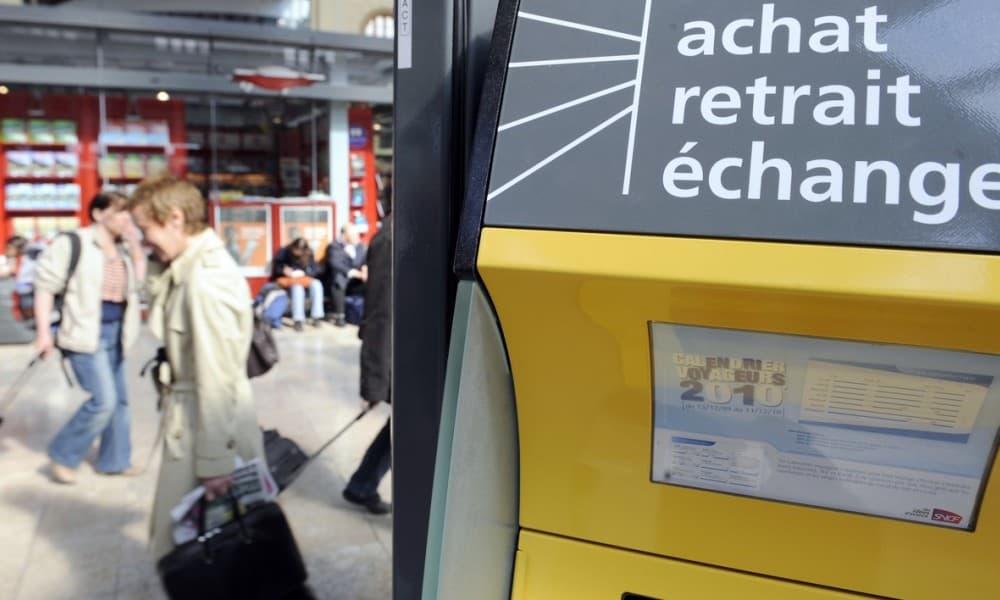 Distributeur de billet de train SNCF