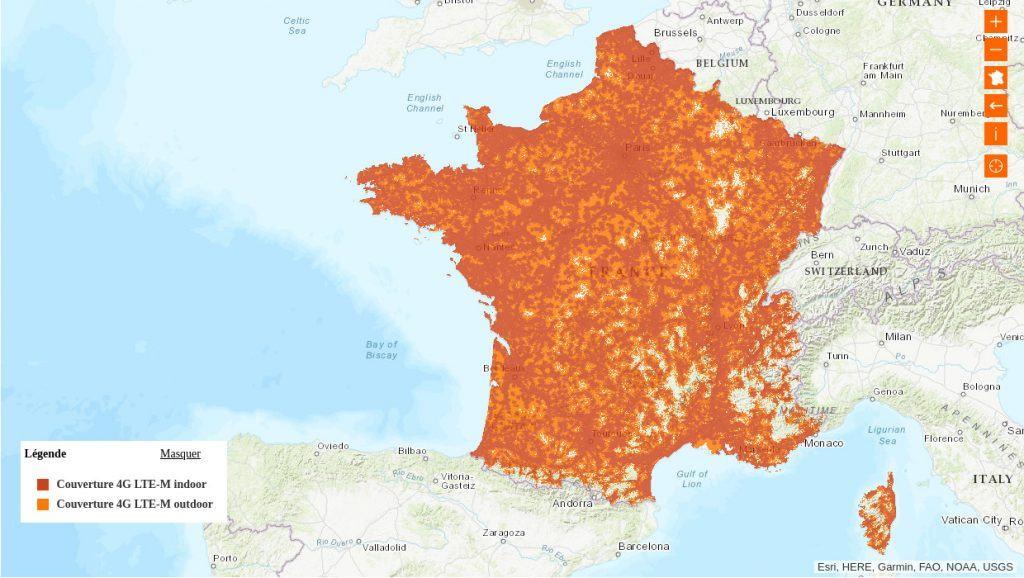 Couverture LTE-M par orange