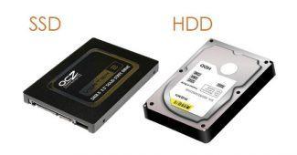 SSD et disque dure mécanique HDD