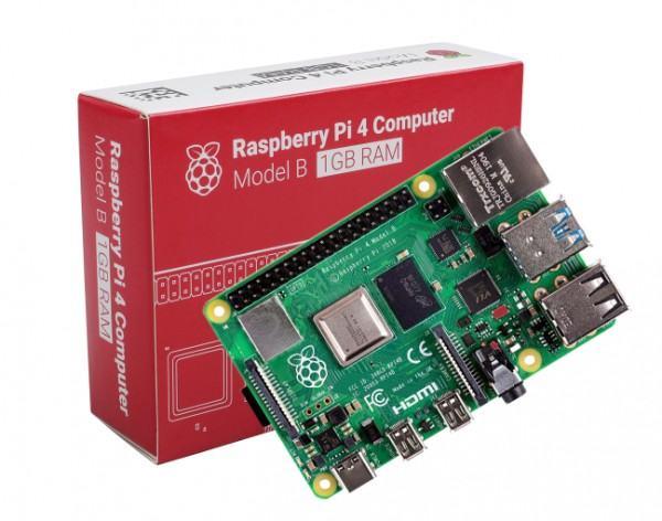 Raspberry Pi 4 avec sa boite