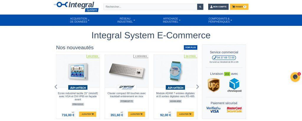 Prévisualisation de la boutique en ligne Integral System
