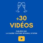Plus de 30 vidéos publiées sur notre chaîne youtube !