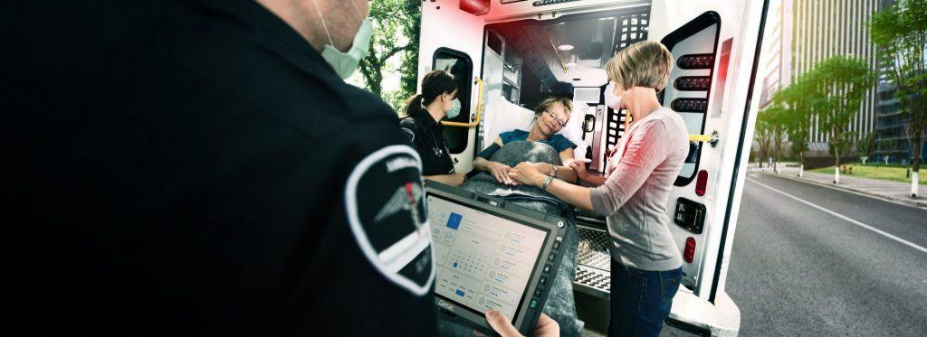 PC portable et pompier