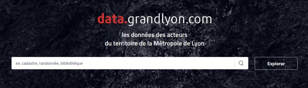 Présentation du site opendata du Grand Lyon
