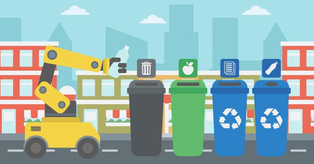 Tri dans des poubelles différentes