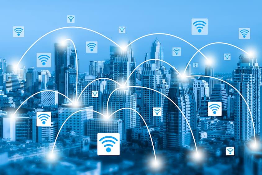 smart grids en schéma dans une ville connectée