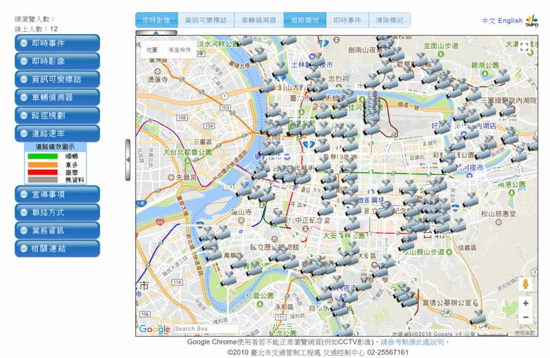 Projet de suivi de la gestion du trafic à Taipei à l'aide de caméra