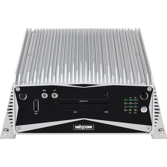 PC Fanless NISE de la marque Nexcom avec ailettes sur le dessus et les côtés du boitier.