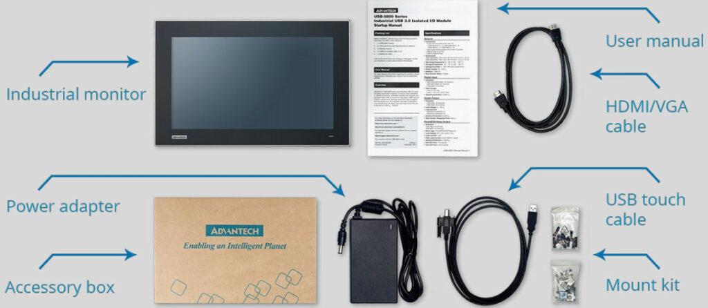 packaging moniteur industriel FPM-200